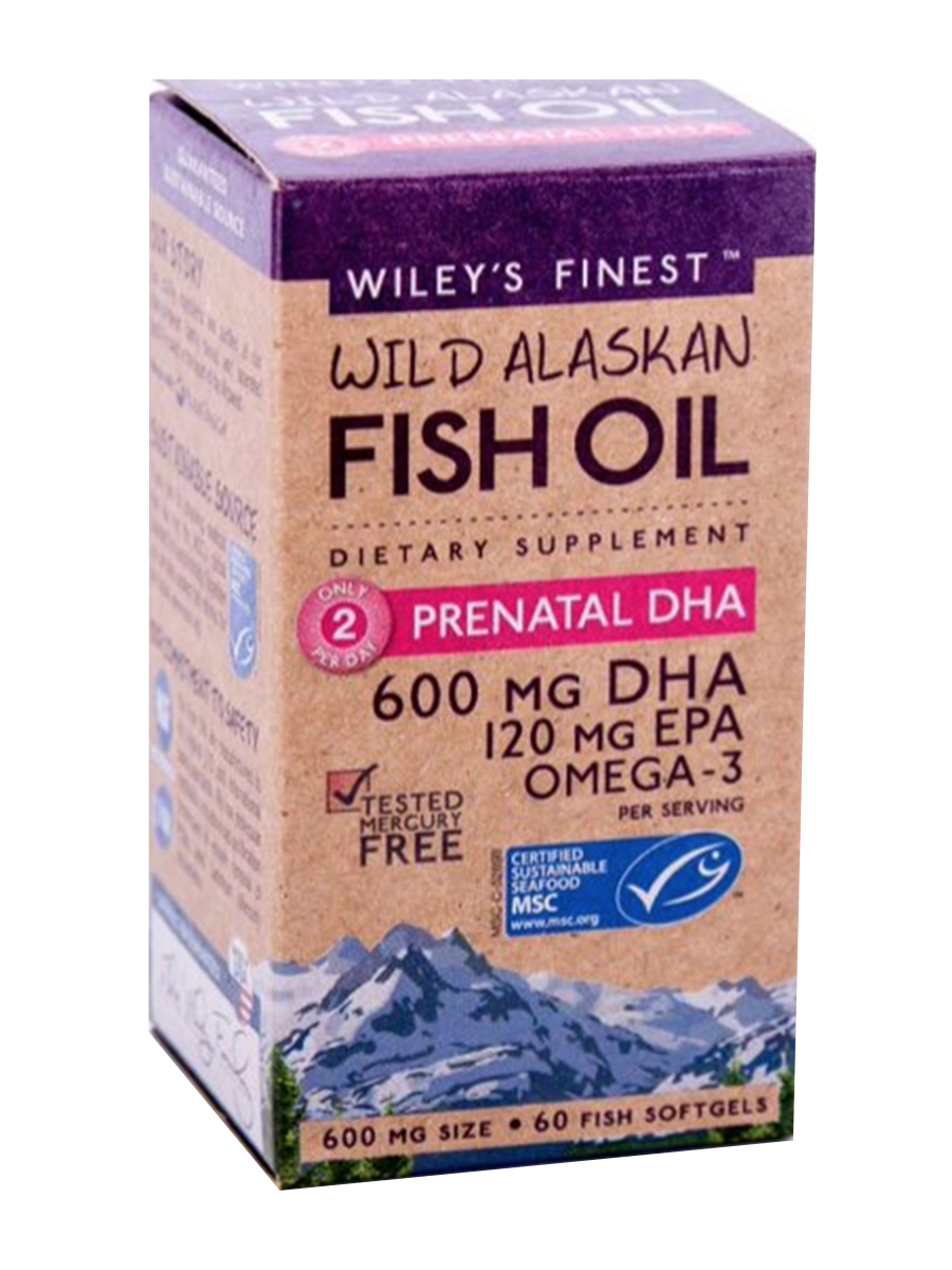 Prenatal DHA 600 mg + EPA 120 mg - 60 Softgels