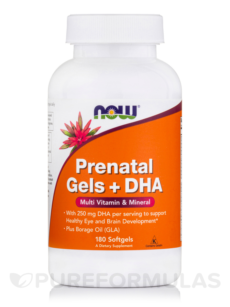 PreNatal Gels with DHA - 180 Softgels