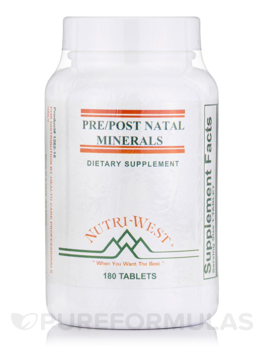 Pre/Post Natal Minerals - 180 Tablets