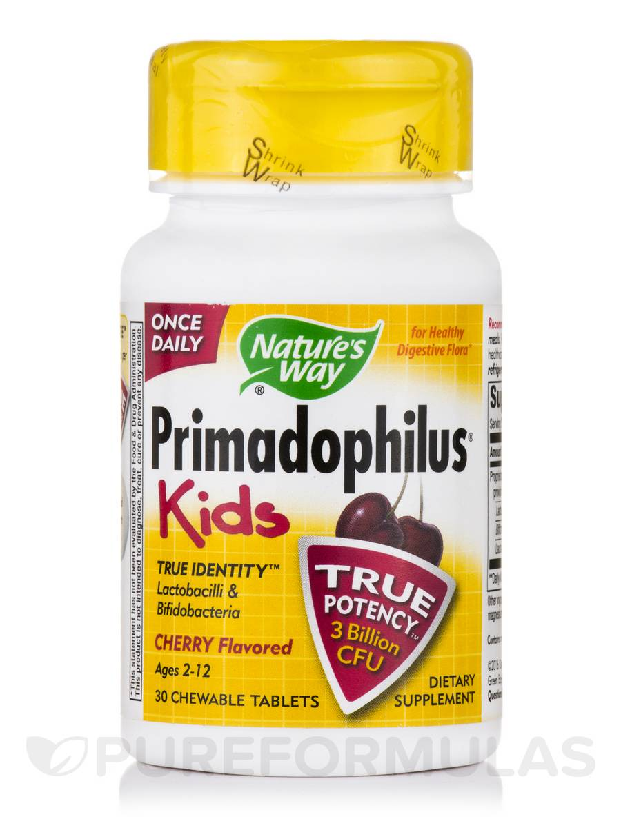 Primadophilus Kids Cherry Flavor - 30 Chewable Tablets