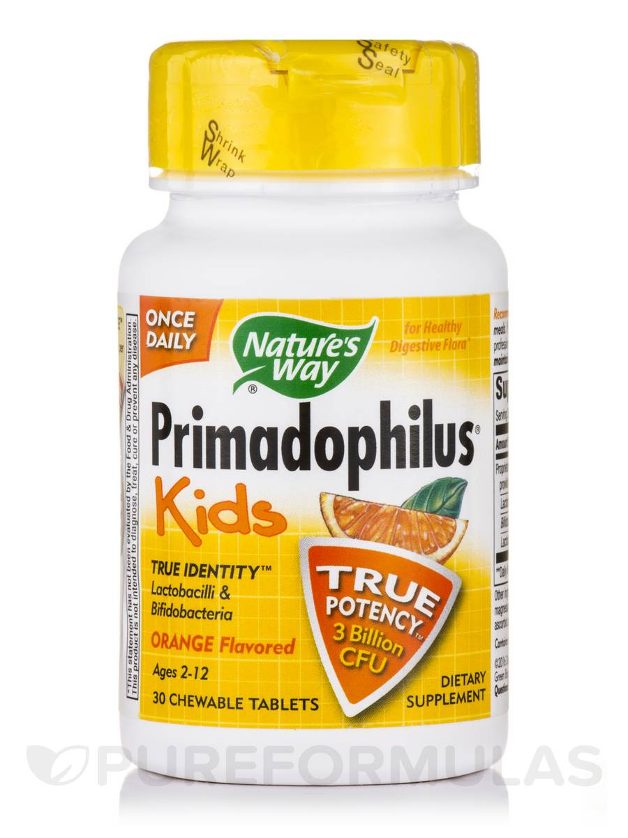Primadophilus Kids Orange Flavor - 30 Chewable Tablets