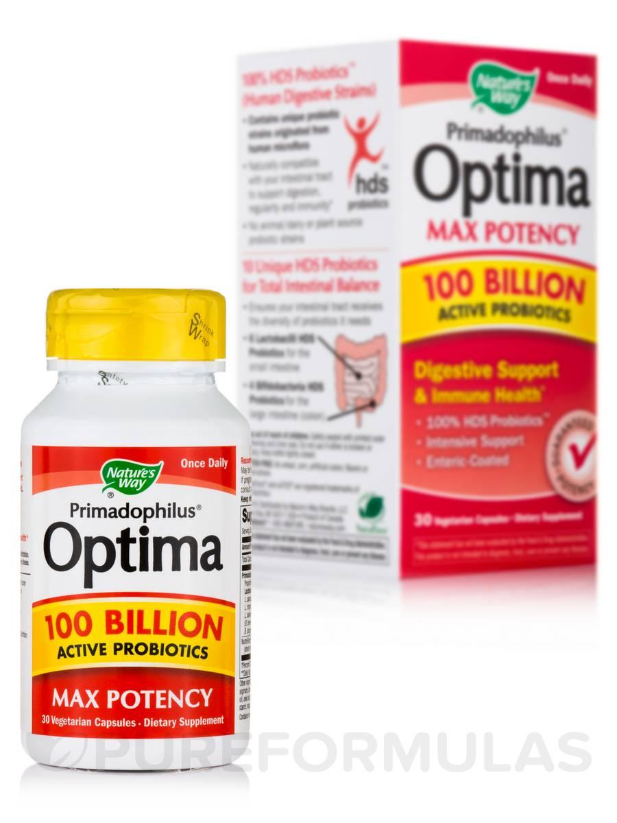 Primadophilus® Optima Max Potency 100 Billion - 30 Vegetarian Capsules
