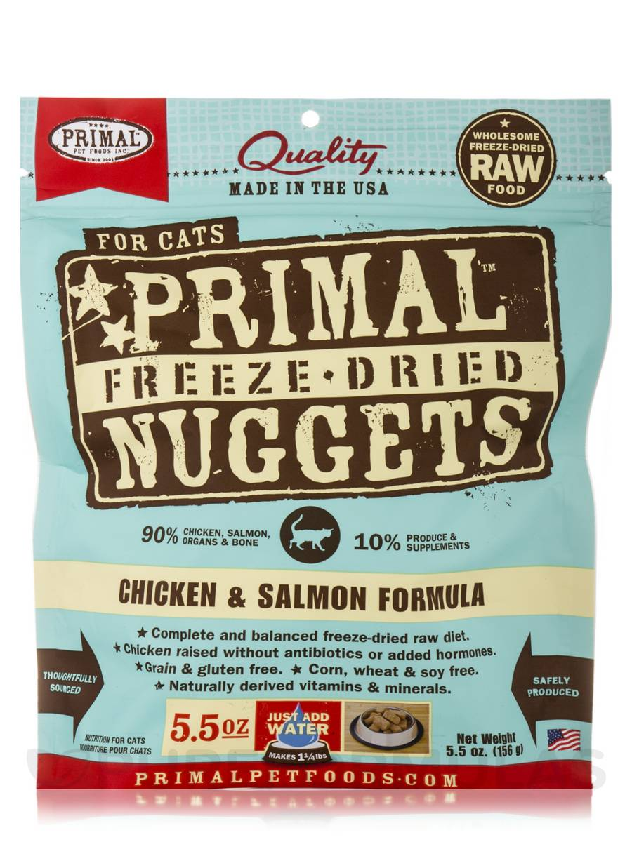 Primal Feline Chicken & Salmon Freeze-Dried Nuggets - 5.5 oz (156 Grams)