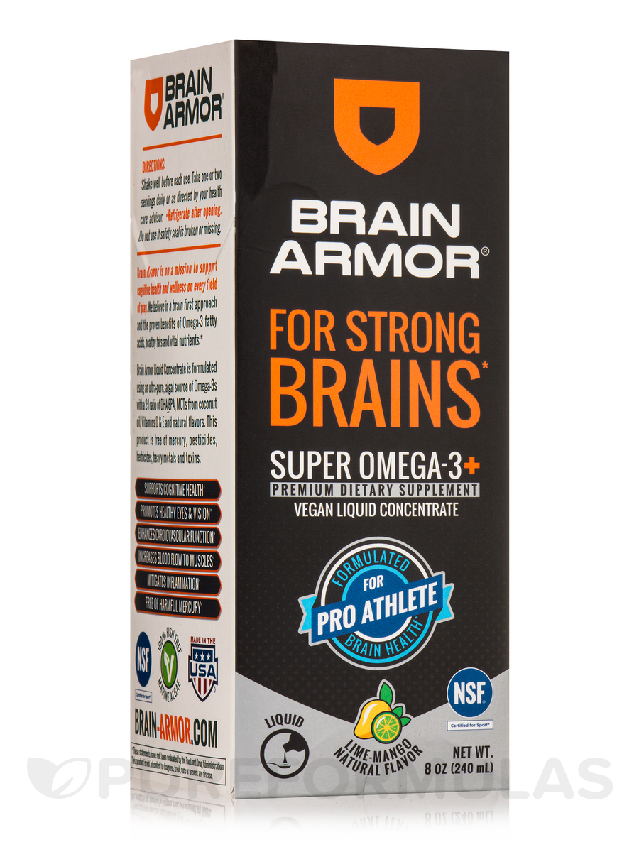 Pro Brain Nutrient Formula - Vegan Liquid Concentrate, Lime-Mango Flavor - 8 oz (240 ml)