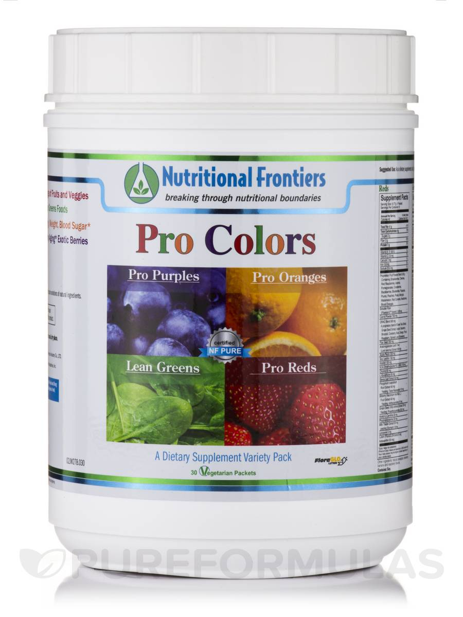 Pro Colors Variety Pack - 30 Vegetarian Packets
