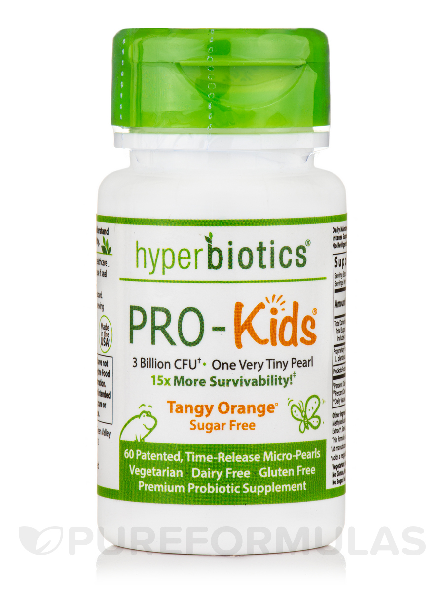 Hyperbiotics PRO-Kids®, Tangy Citrus Flavor - 60 Time-Release Micro-Pearl Tablets