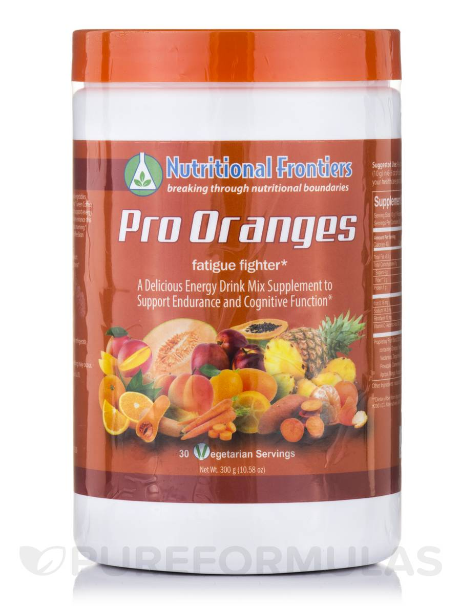 Pro Oranges (Fatigue Fighter) - 30 Vegetarian Servings (10.58 oz / 300 Grams)