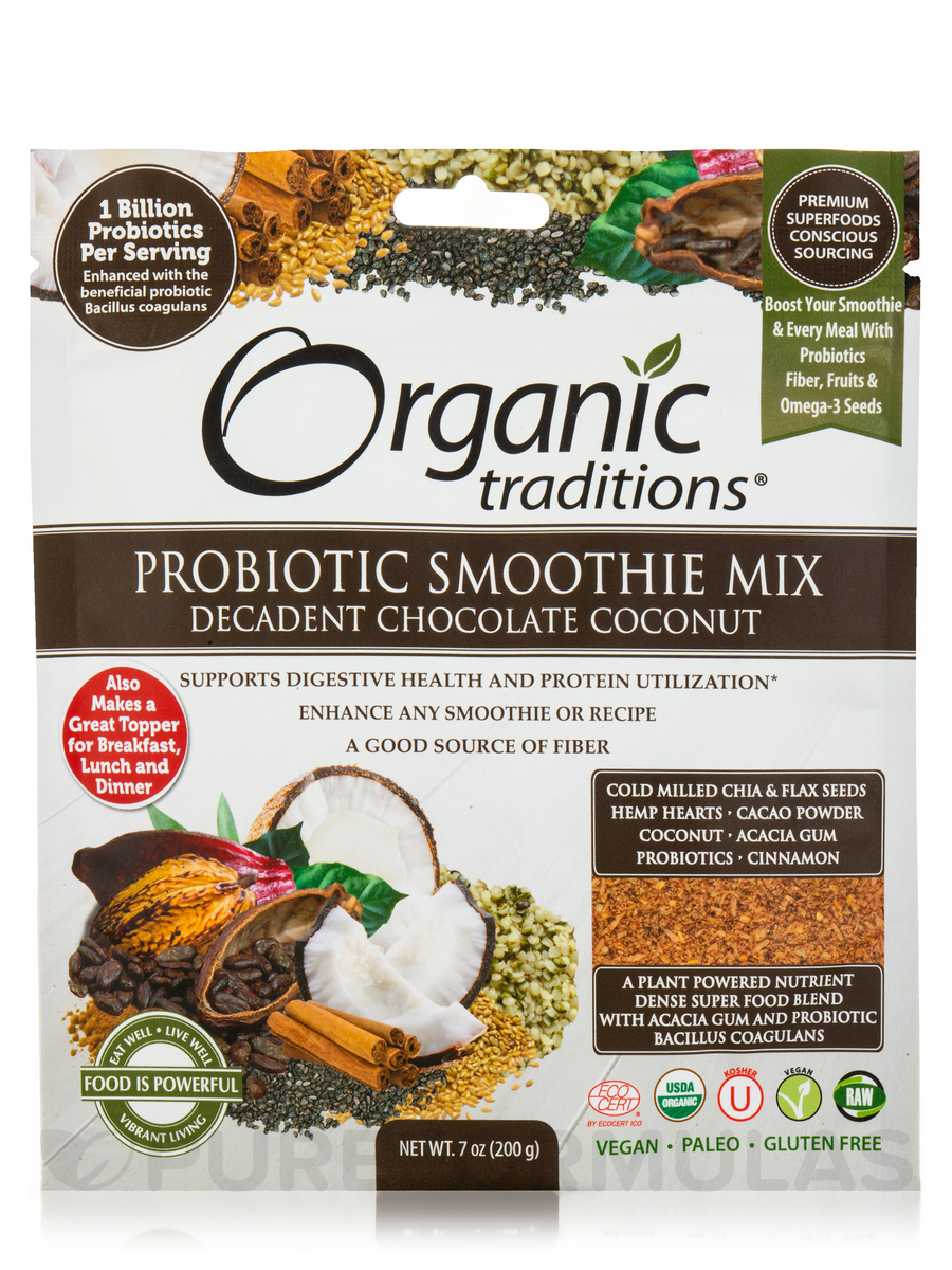 Probiotic Superfood Booster, Decadent Chocolate Coconut - 7 oz (200 Grams)