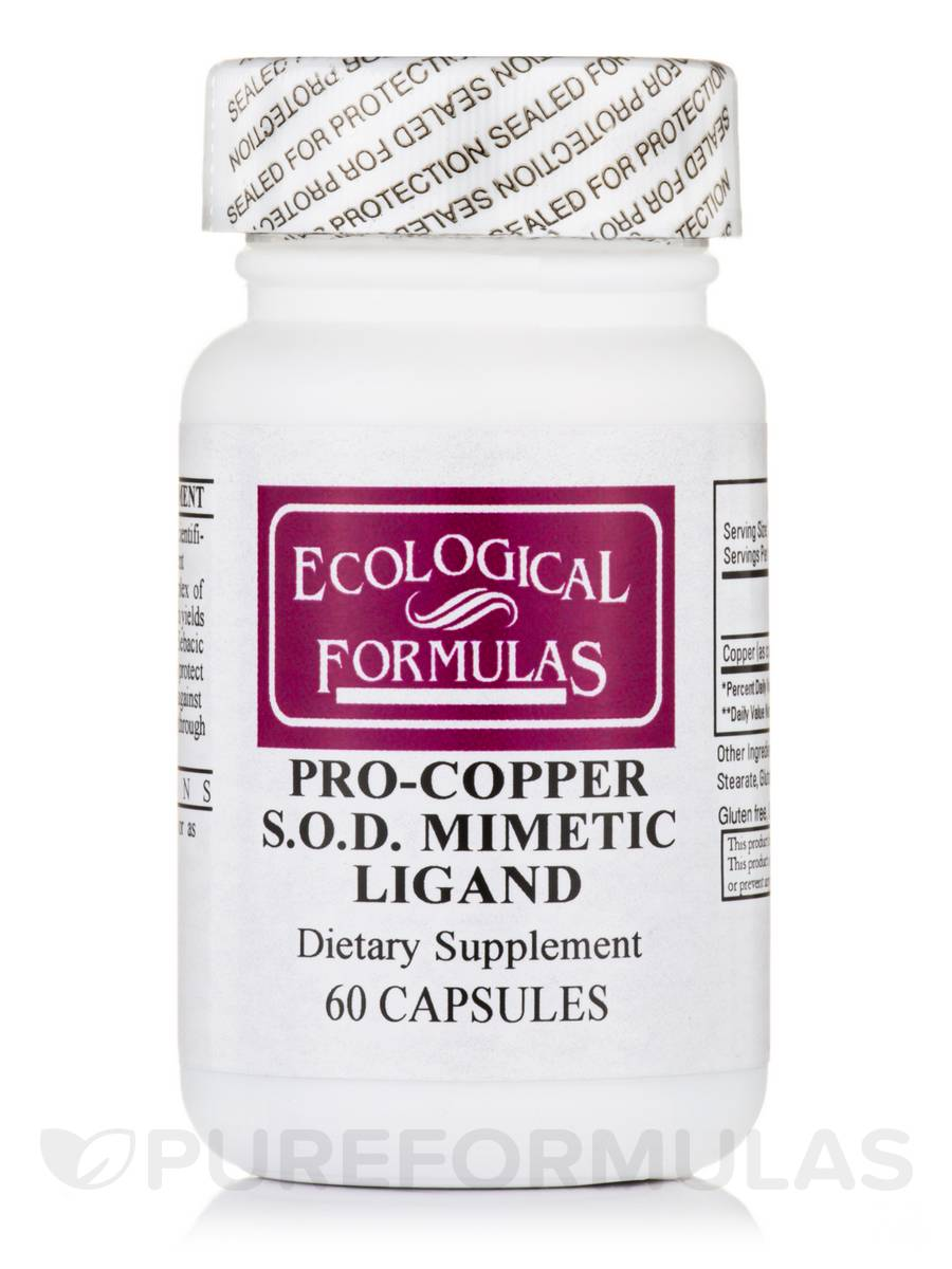 Pro-Copper S.O.D. Mimetic Ligand - 60 Capsules