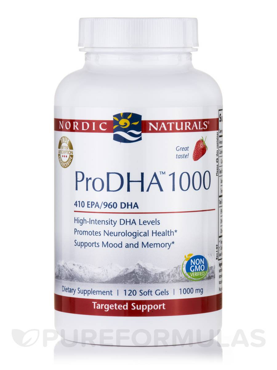 ProDHA™ 1000 mg, Strawberry Flavor - 120 Soft Gels