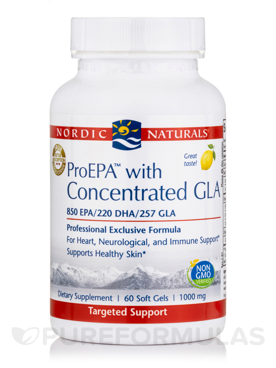 ProEPA™ with Concentrated GLA 1000 mg, Lemon Flavor - 60 Soft Gels