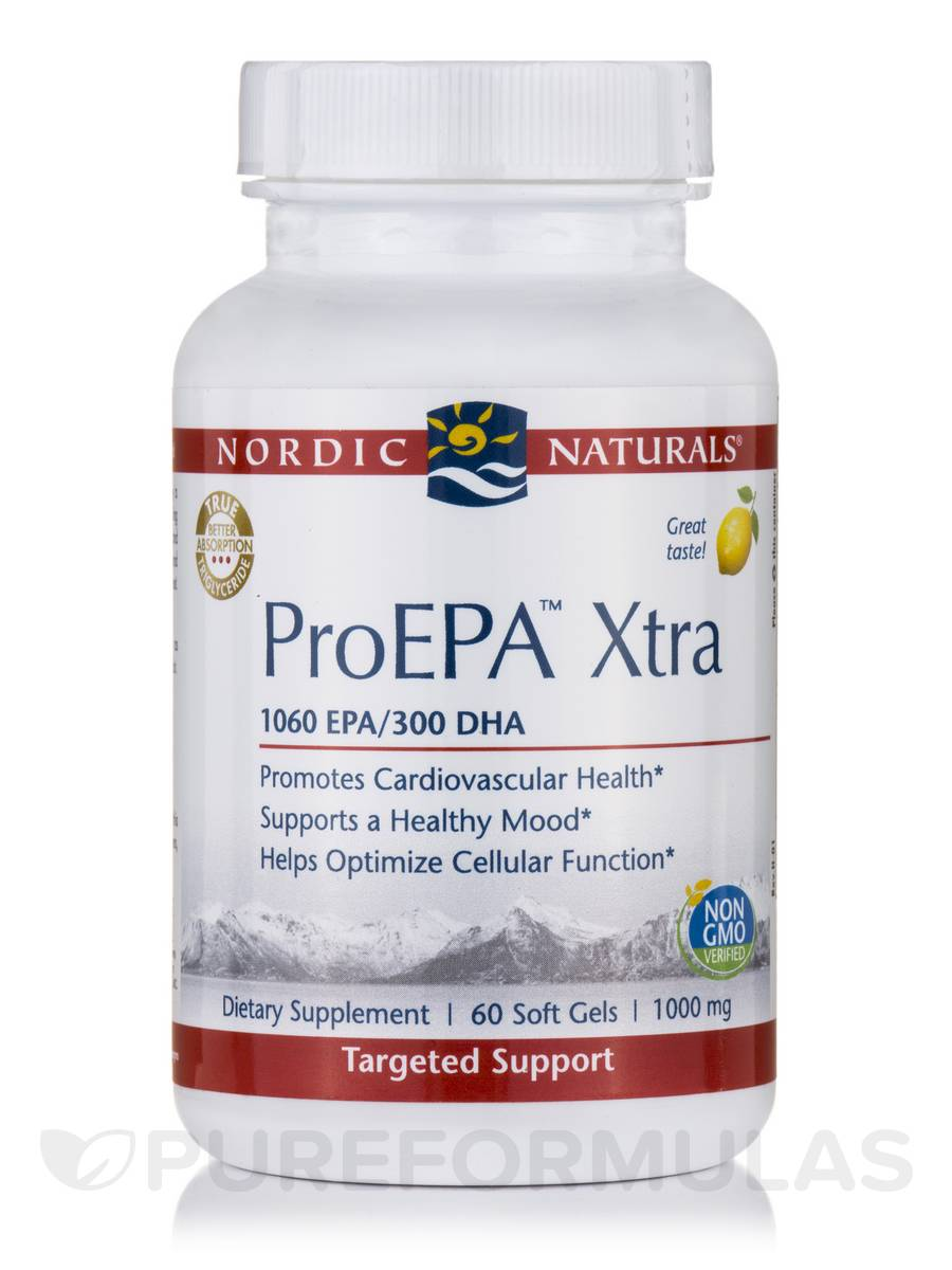 ProEPA™ Xtra 1000 mg, Lemon Flavor - 60 Soft Gels