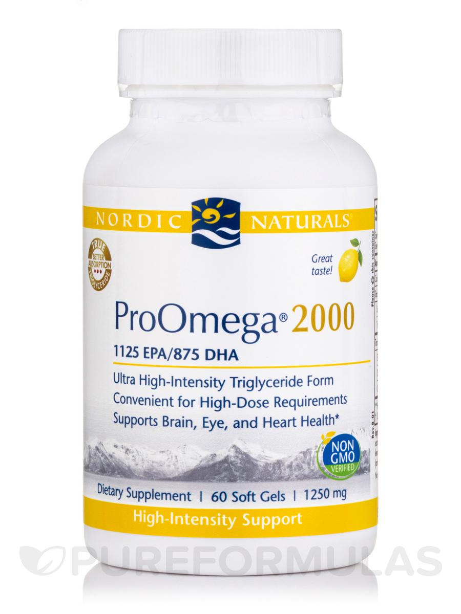 ProOmega® 2000 mg, Lemon Flavor - 60 Soft Gels
