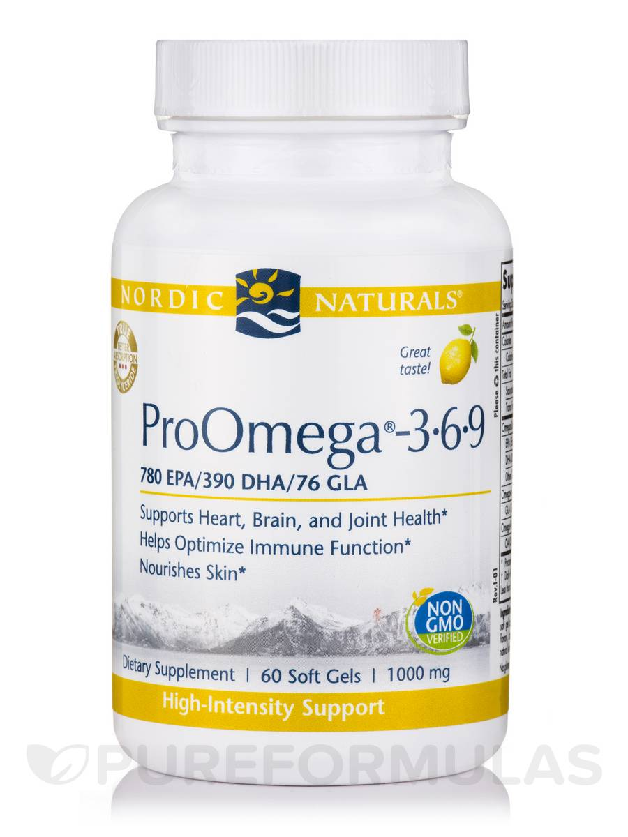 ProOmega®-3.6.9 1000 mg, Lemon Flavor - 60 Soft Gels