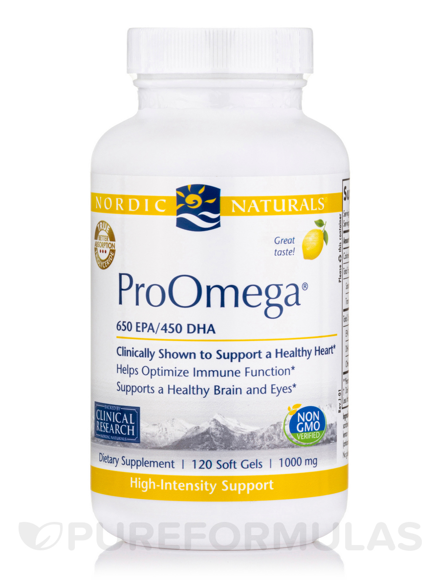 ProOmega® 1000 mg, Lemon Flavor - 120 Soft Gels