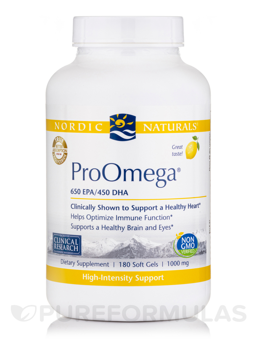 ProOmega® 1000 mg, Lemon Flavor - 180 Soft Gels