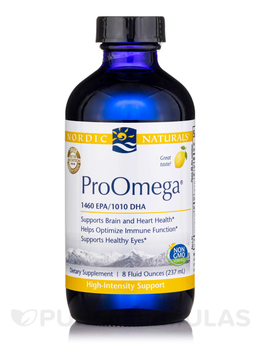 ProOmega®, Lemon Flavor - 8 fl. oz (237 ml)