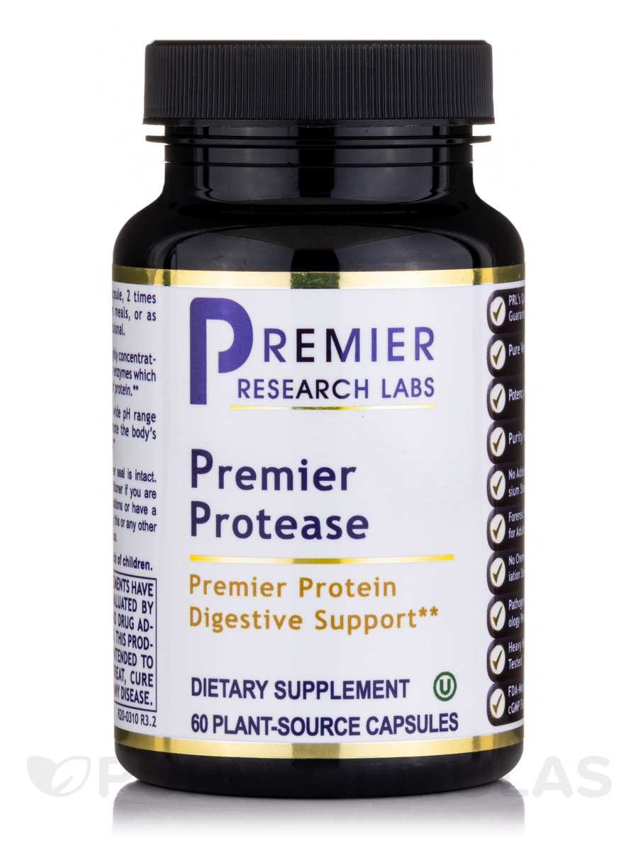 Premier Protease - 60 Vegetable Capsules