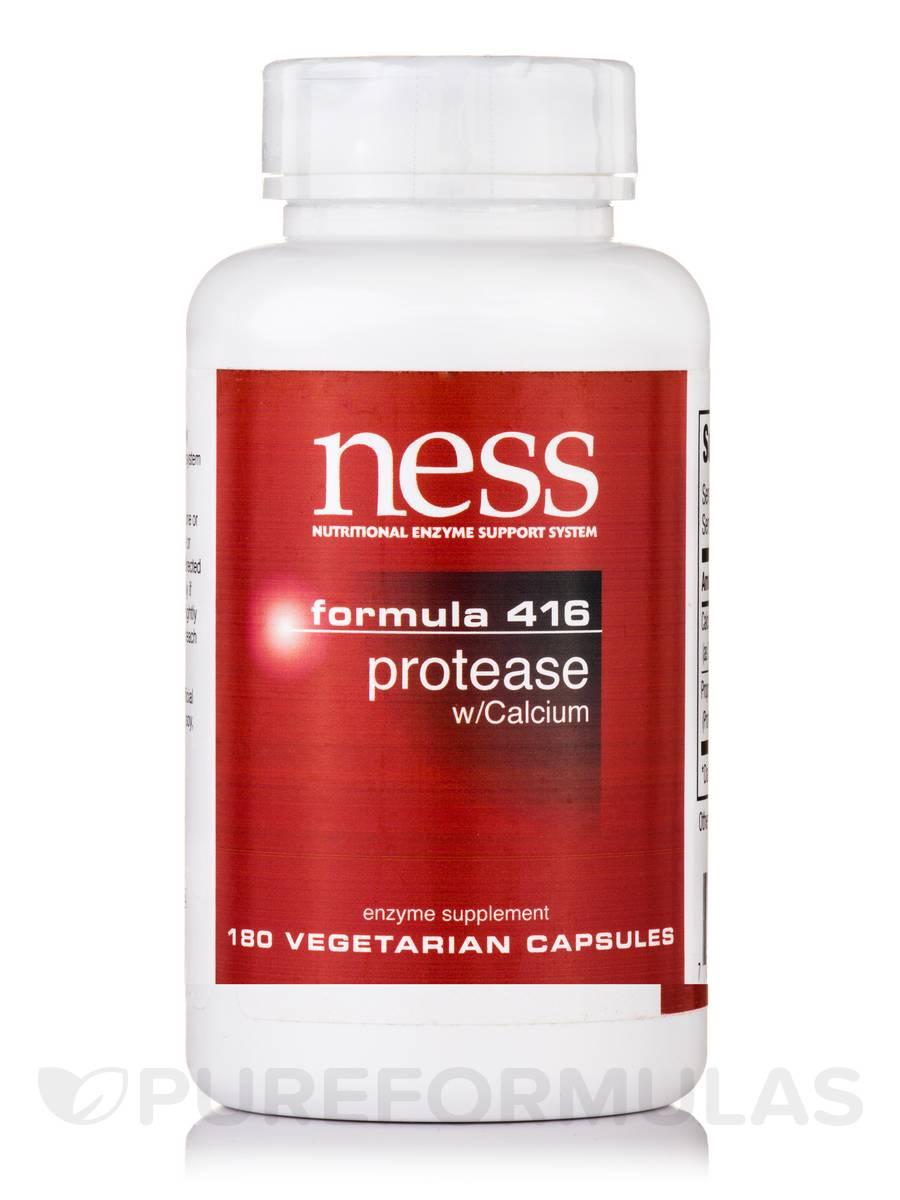 Protease with Calcium (Formula 416) - 180 Vegetarian Capsules
