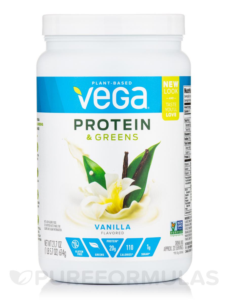 Protein & Greens, Vanilla Flavor - 21.7 oz (614 Grams)