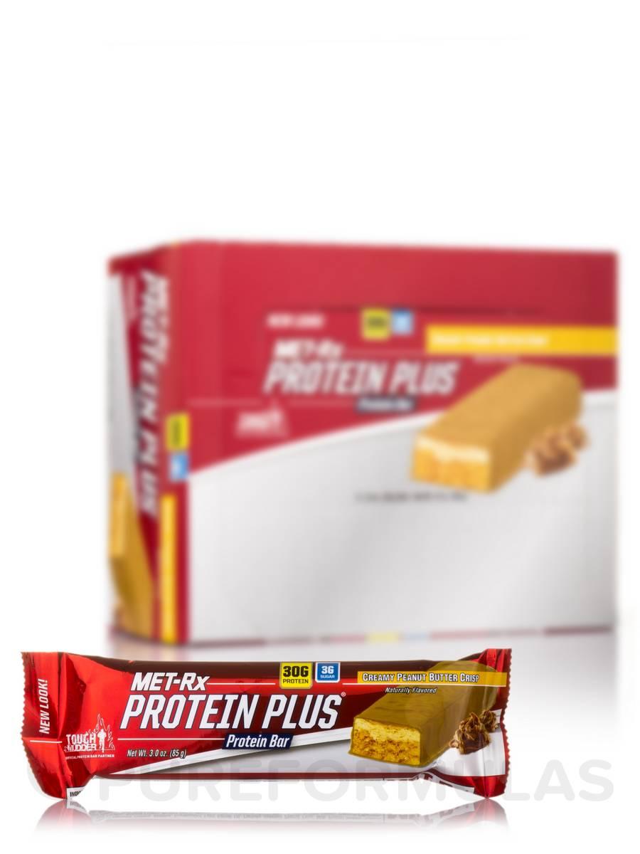Protein Plus Bar Creamy Peanut Butter Crisp - Box of 9 Bars (3.0 oz / 85 Grams each)