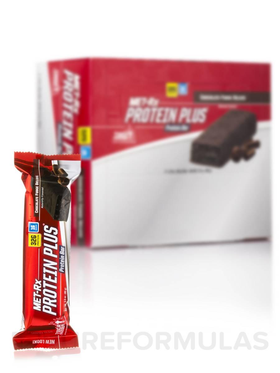 Protein Plus Bar Chocolate Fudge Deluxe - Box of 9 Bars (3.0 oz / 85 Grams each)