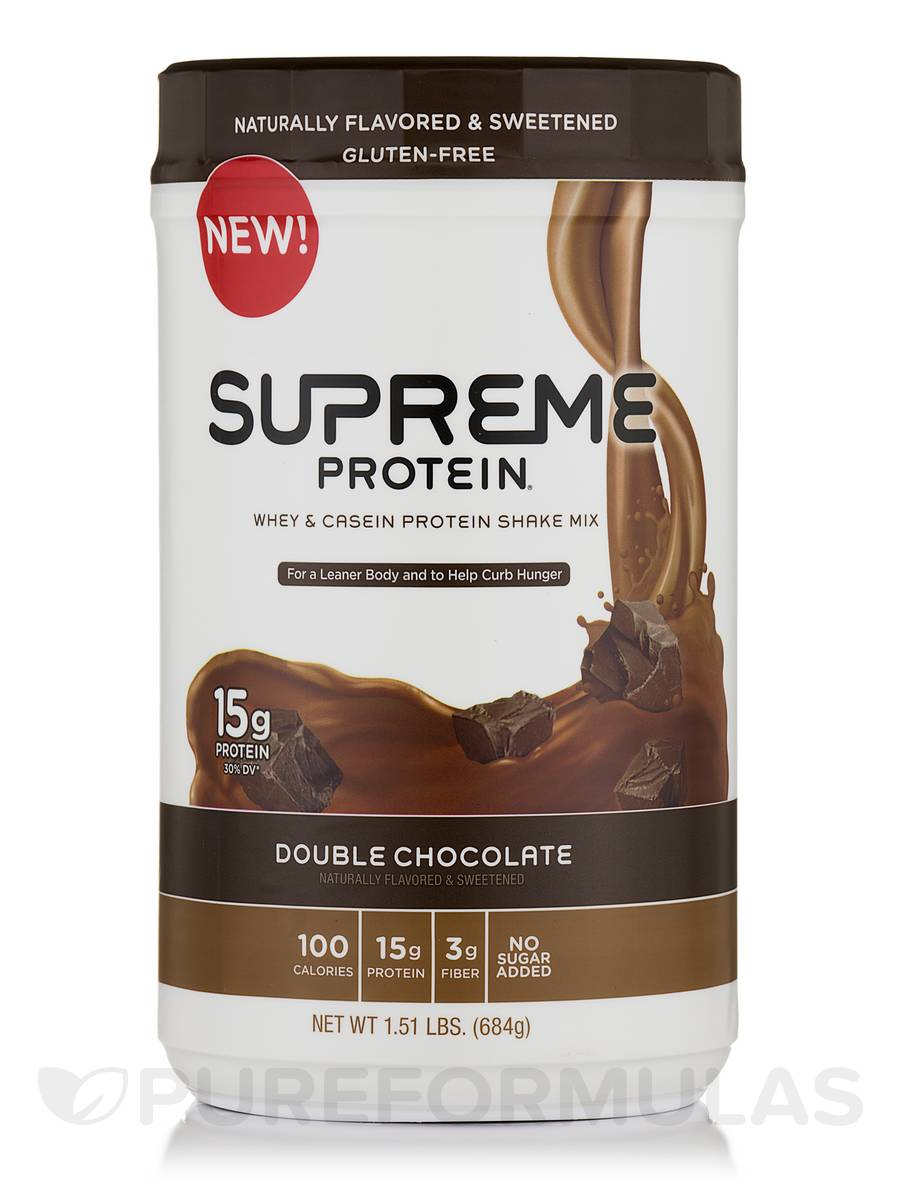 Supreme Protein Shake Mix Double Chocolate - 1.51 lbs (684 Grams)