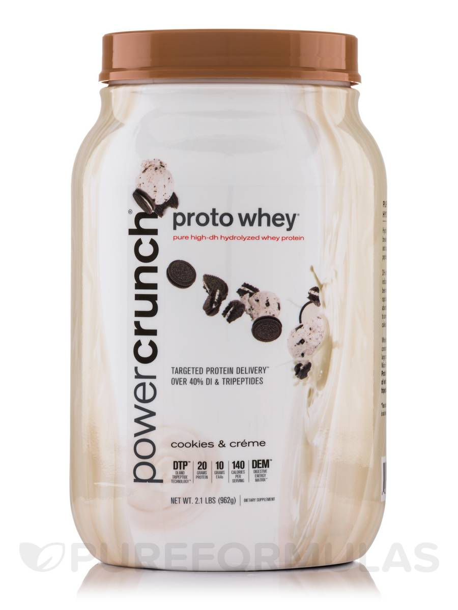 Proto Whey Protein Powder, Cookies and Crème - 2.1 lbs (962 Grams)