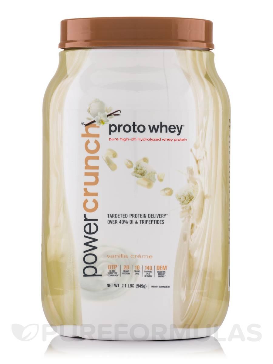 Proto Whey Protein Powder, Vanilla - 2.1 lbs (949 Grams)