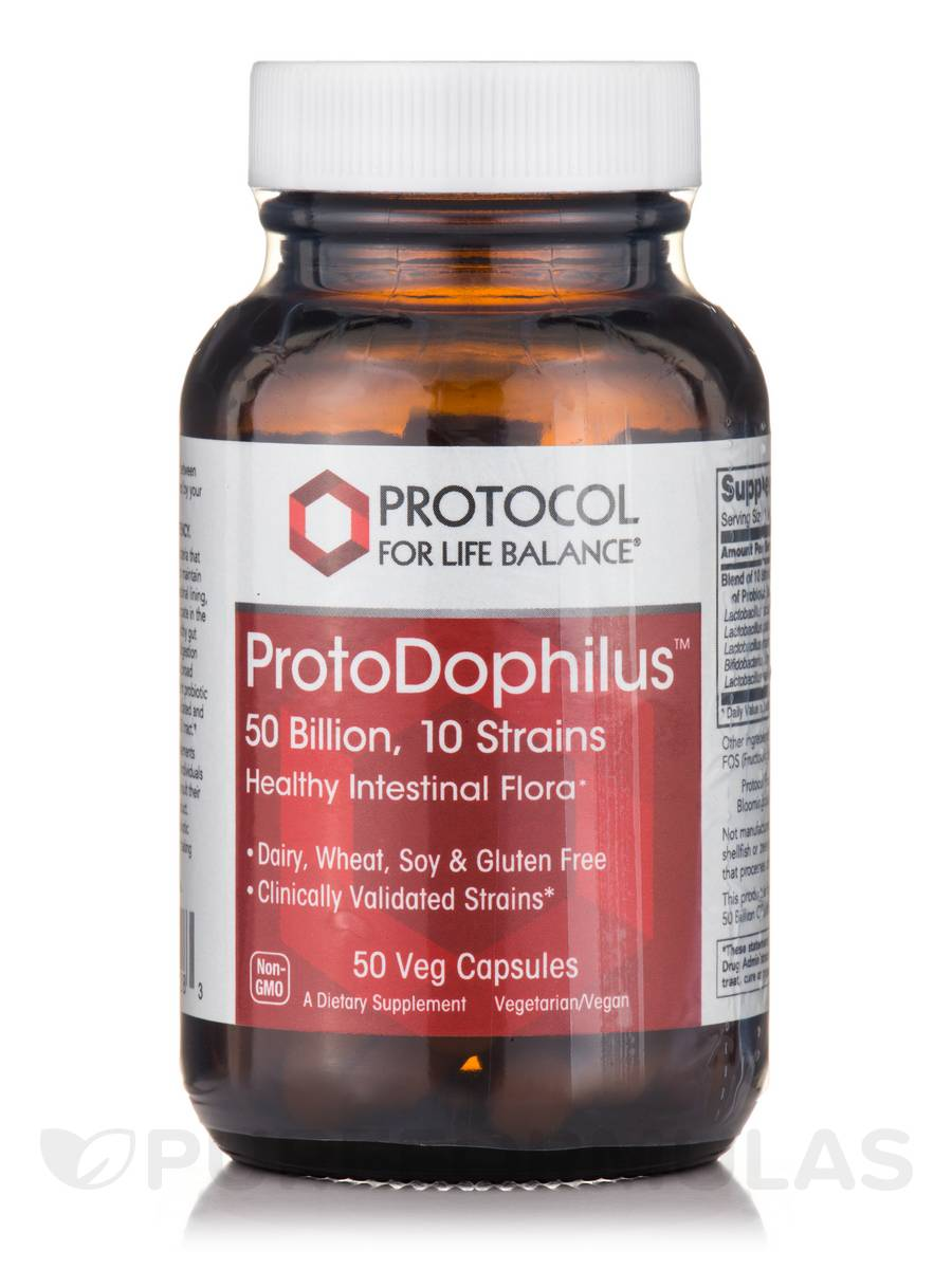 ProtoDophilus® 50 Billion, 10 Strains - 50 Veg Capsules