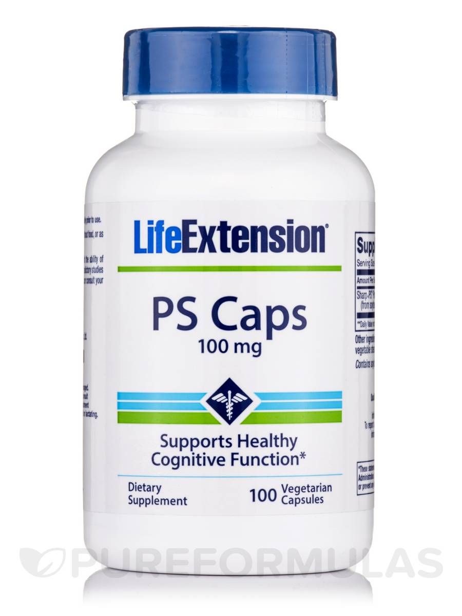 PS (Phosphatidylserine) Caps 100 mg - 100 Vegetarian Capsules