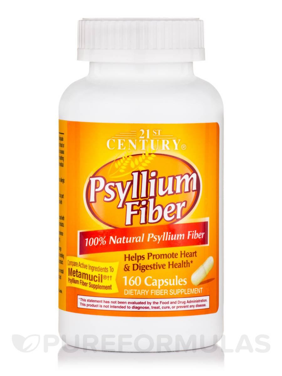Psyllium Fiber - 160 Capsules