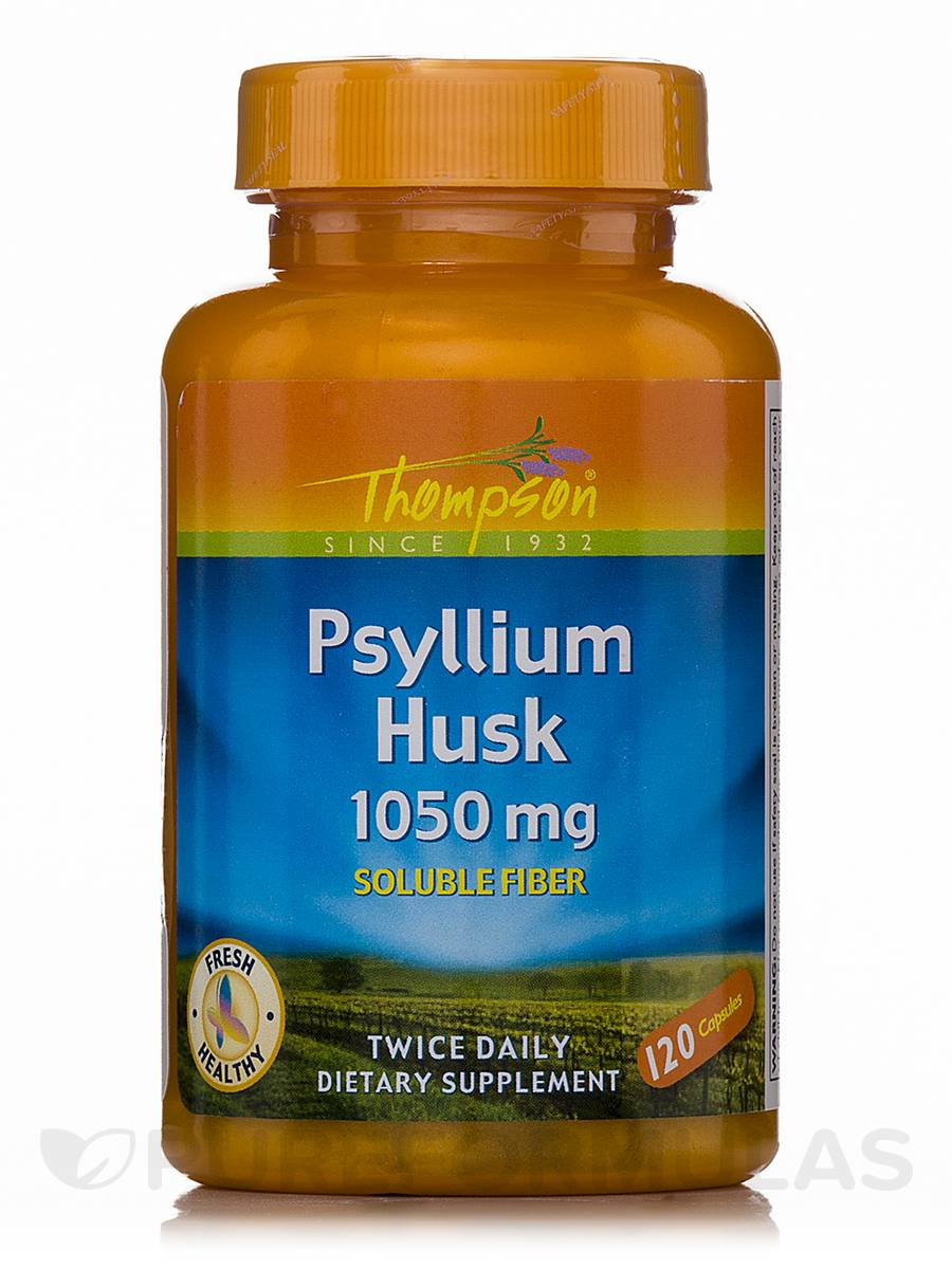 Psyllium Husk 1050 mg (Soluble Fiber) - 120 Capsules