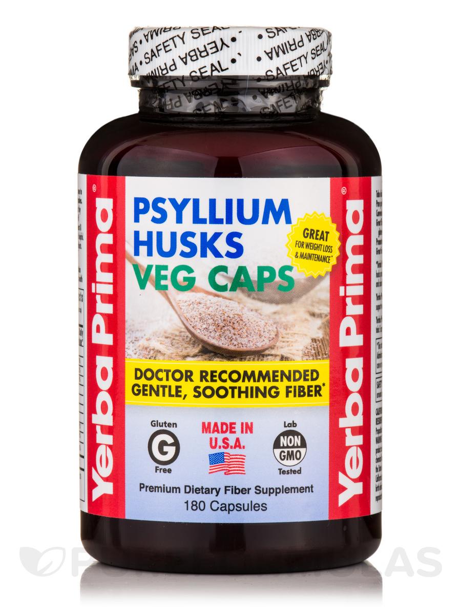 Psyllium Husks Caps - 180 Capsules