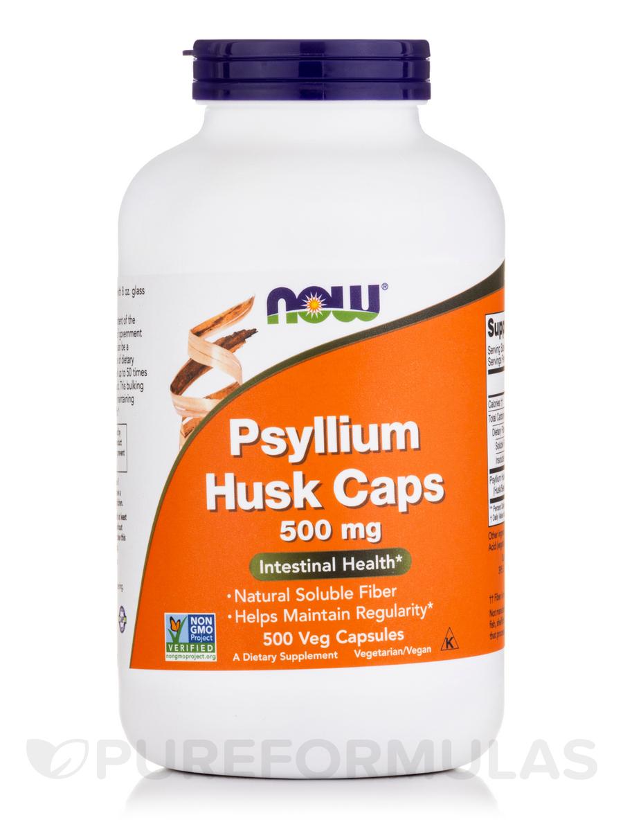 Psyllium Husk Caps 500 mg - 500 Capsules