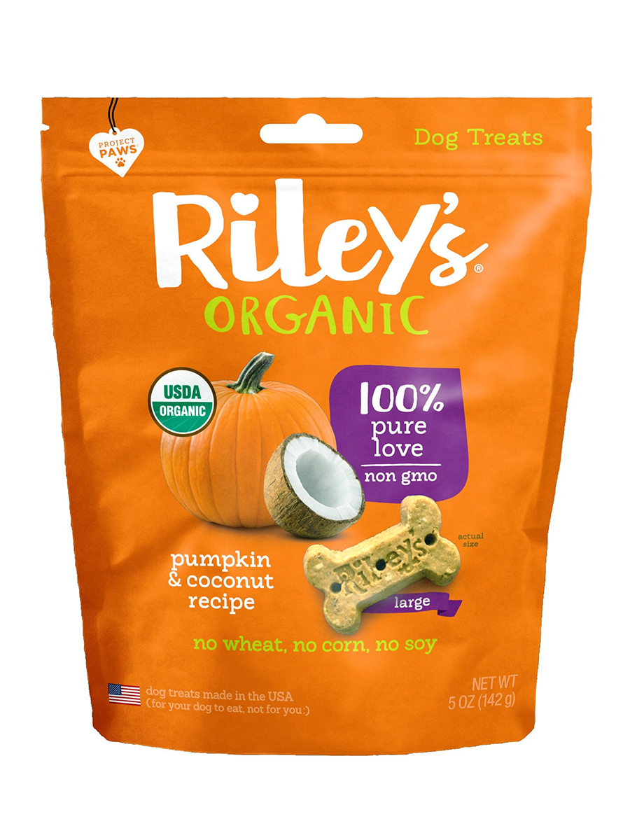 Pumpkin & Coconut Organic Dog Treat, Large Bone - 5 oz (142 Grams)