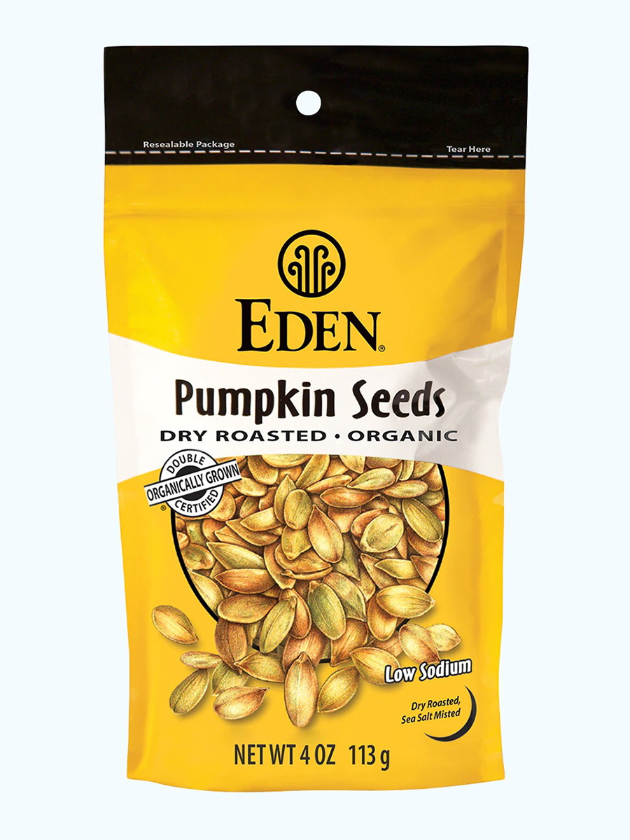 Pumpkin Seeds, Dry Roasted & Salted, Organic - 4 oz (113 Grams)