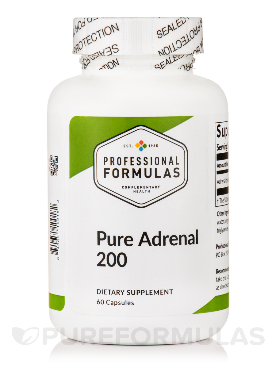 Pure Adrenal 200 - 60 Capsules