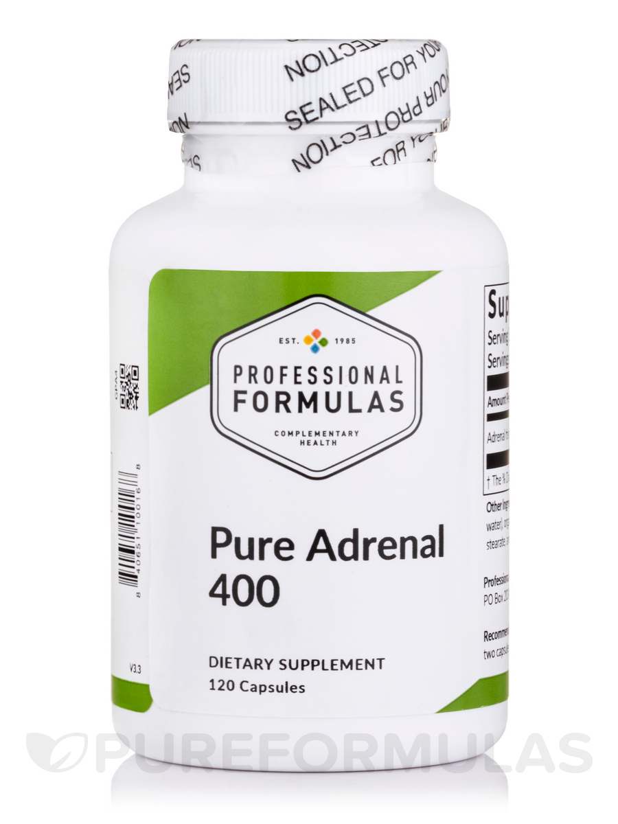 Pure Adrenal 400 - 60 Capsules