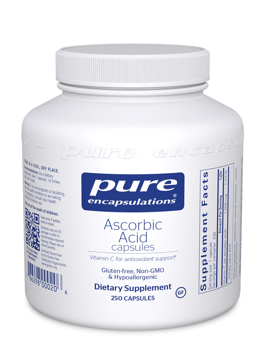 Ascorbic Acid - 250 Vegetable Capsules
