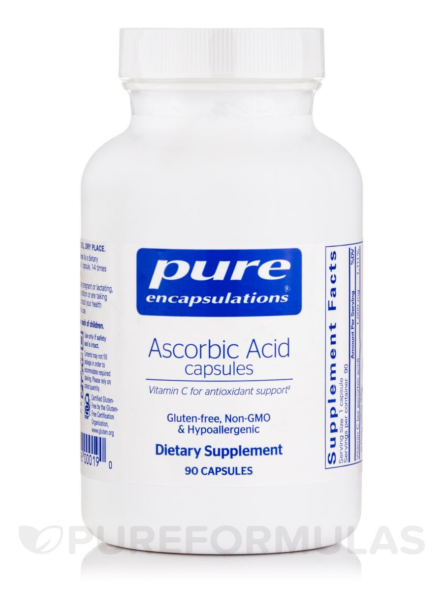 Pure Ascorbic Acid - 90 Capsules