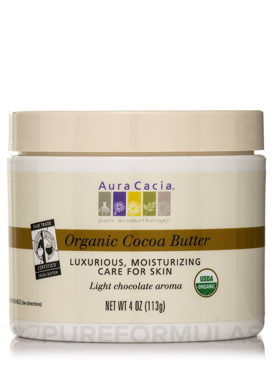 Organic Cocoa Butter - 4 oz (113 Grams)