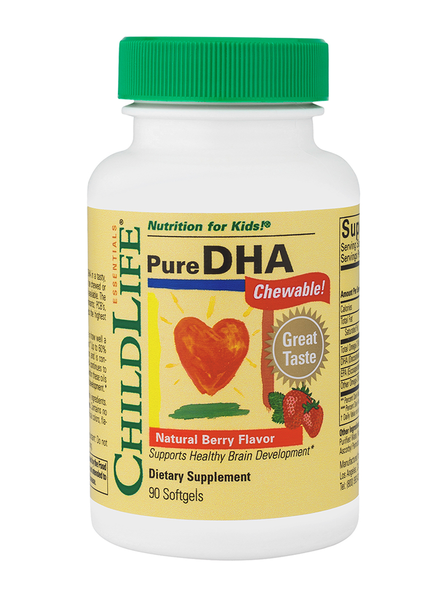 Pure DHA Berry Flavor 250 mg - 90 Softgels