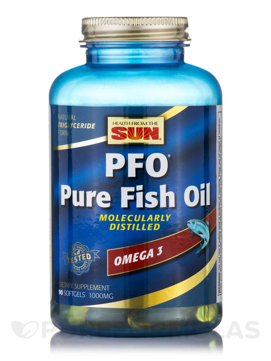 Pfo pure fish oil 90 fish softgels for Where does fish oil come from