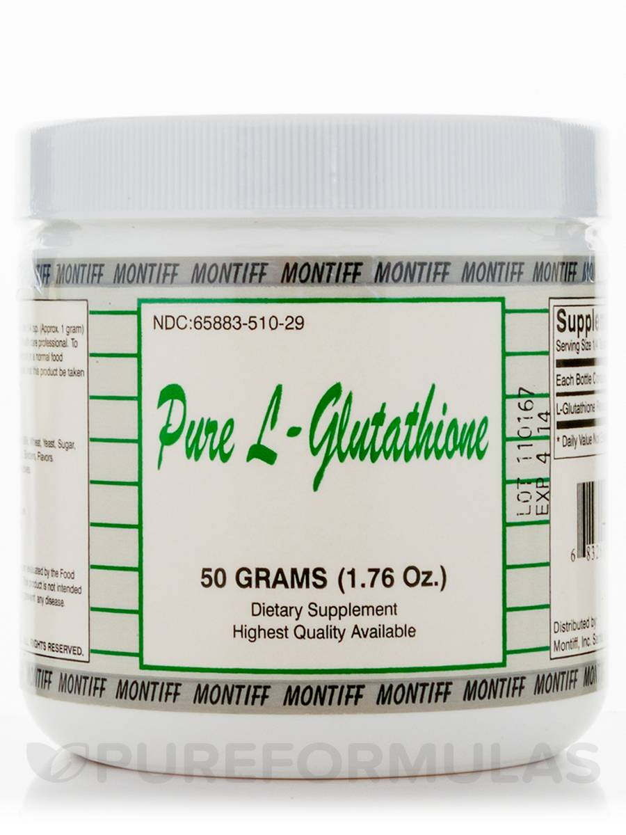 Pure L-Glutathione - 1.76 oz (50 Grams)