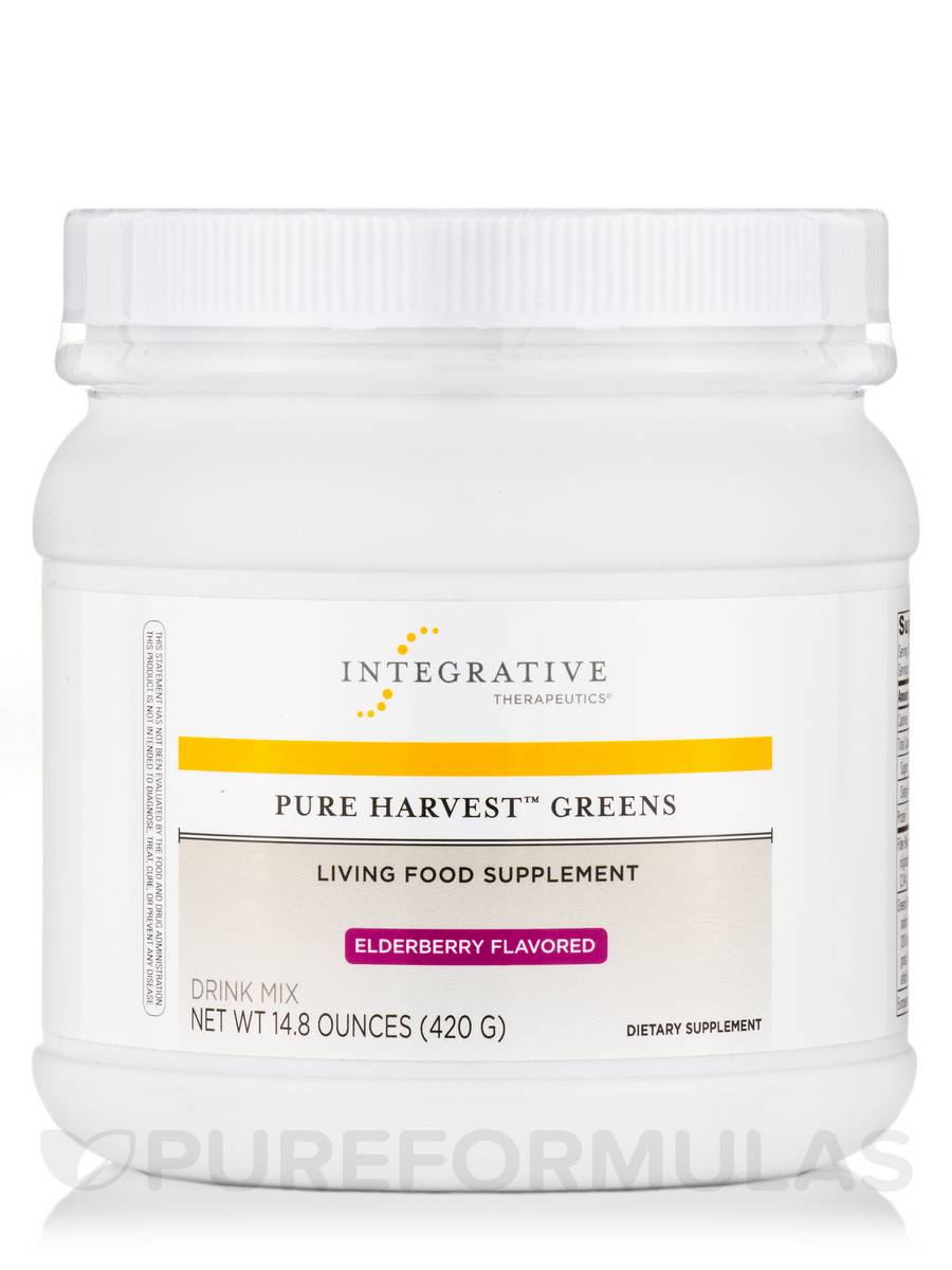 Pure Harvest Greens Elderberry Flavor - 15 oz (426 Grams)