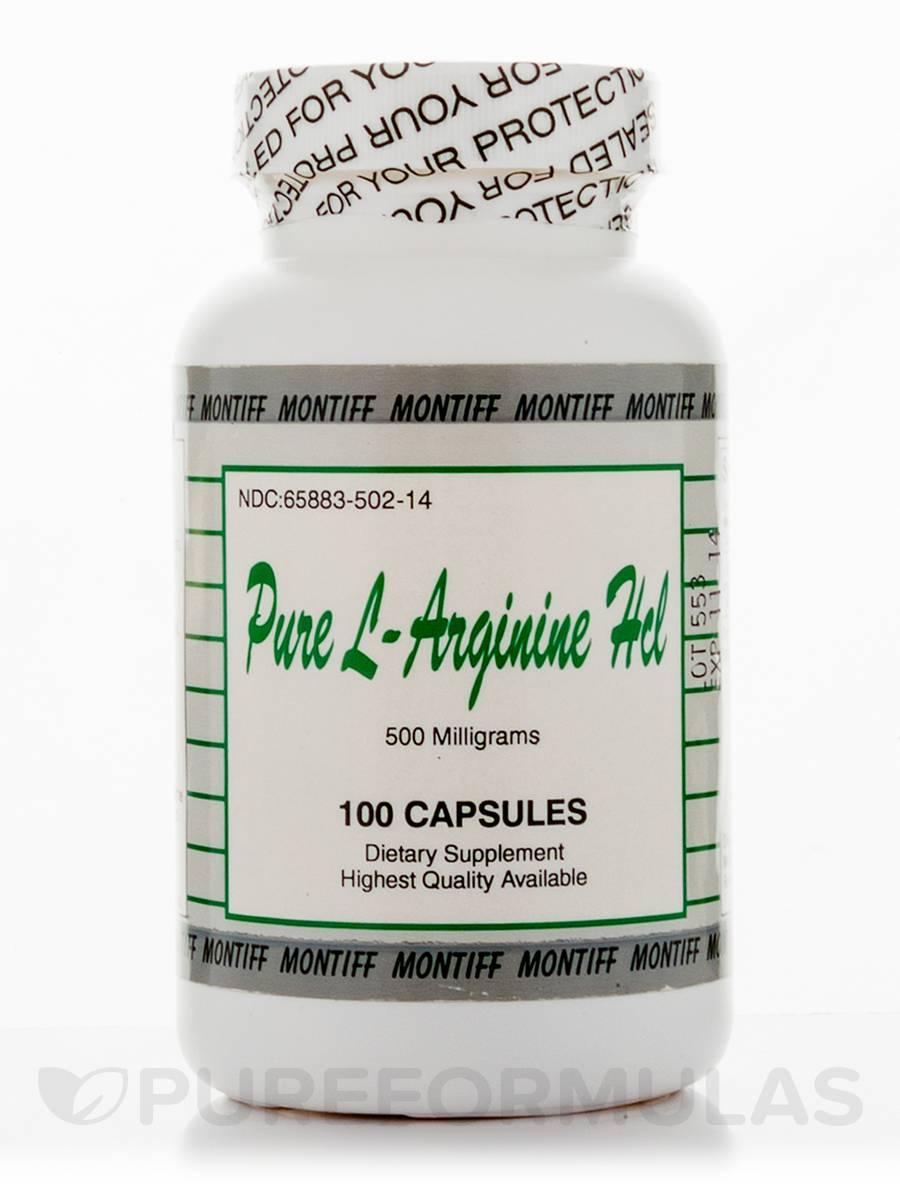 Pure L-Arginine HCl 500 mg - 100 Capsules
