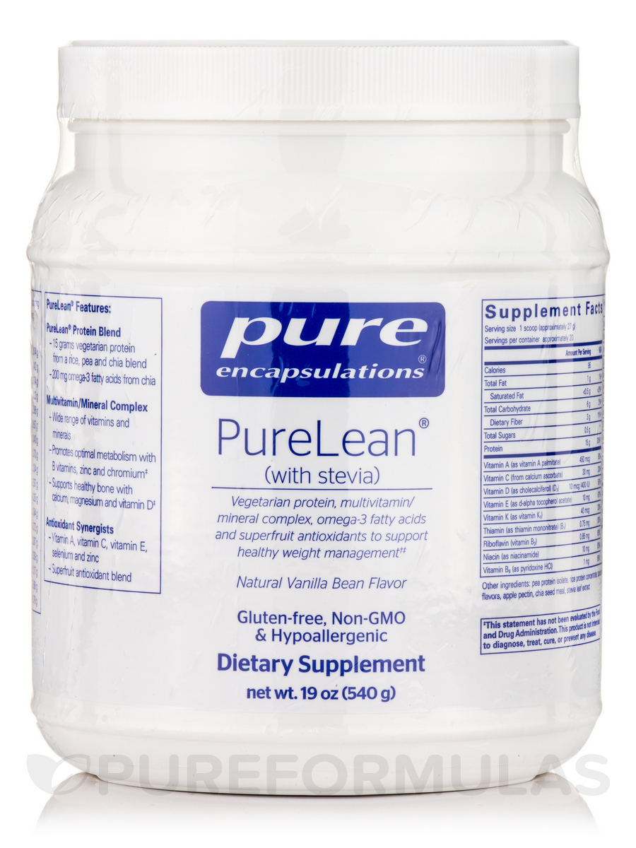 PureLean with Stevia (Vanilla Bean Flavor) - 540 Grams