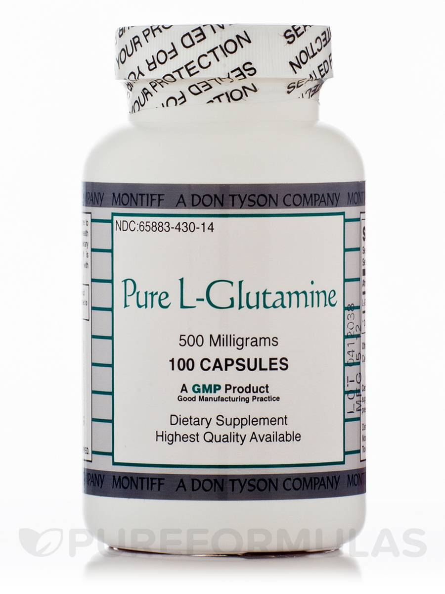Pure L-Glutamine 500 mg - 100 Capsules
