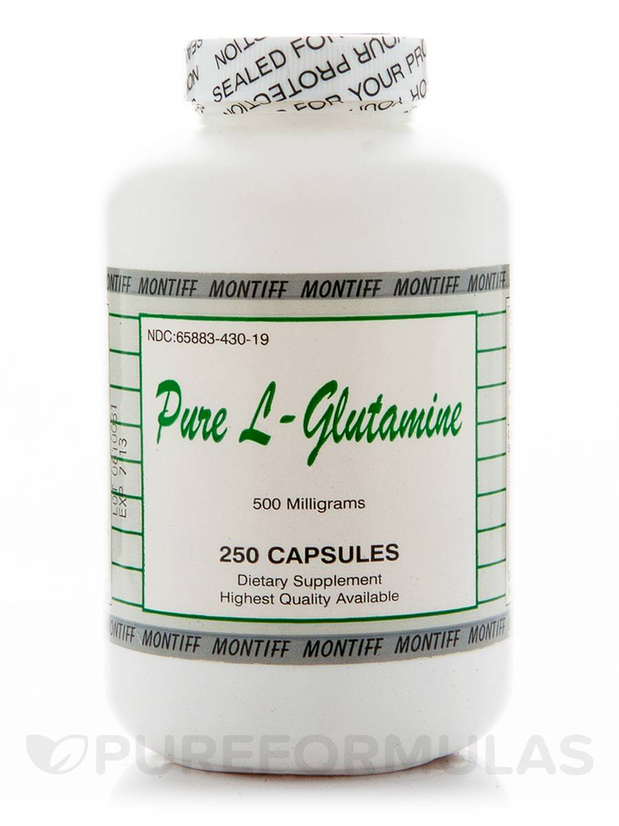 Pure L-Glutamine 500 mg - 250 Capsules